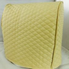 Beige Quilted Double Faced Cotton Tilt Head Kitchen Aid Cover