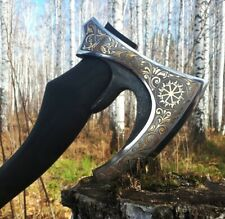 Russian patterned axe.  collectible gift hunter Luxury men's gift, gift shop.
