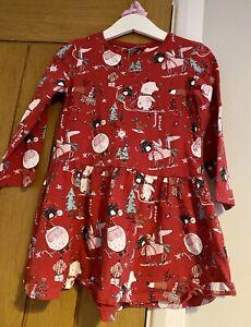 Next Girls Beautiful Red Character Unicorn Bear Christmas Dress 3-4 Years 🎅🏻🎄
