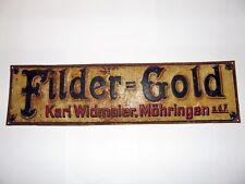 altes Bier Brauerei Blechschild FILDER GOLD Widmaier Stuttgart Möhringen Fildern