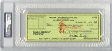Walter Lantz SIGNED Check Creator of Woody Woodpecker PSA/DNA AUTOGRAPHED Encap