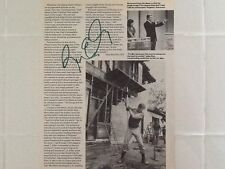 Ron Ely SIGNED Magazine Page  Tarzan   Game Host