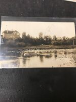 real photo Postcard 1911 The Spring Birtle Manitoba Hot Spring Indicated A1
