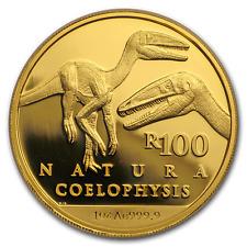 2018 South Africa 1 oz Proof Gold Natura Coelophysis - SKU#171936