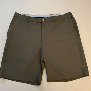 Peter Millar Mens Crown Gray Golf Shorts Size 36 EUC