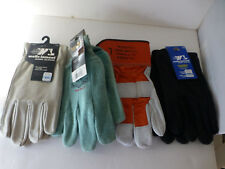 wells lamont work gloves large jersery leather cotton & leather 4 pair large