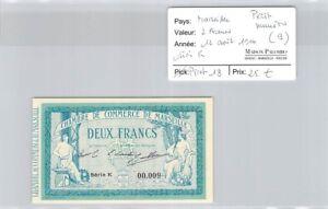 Banknote Chambre De Commerce Marseille - 2 Francs - 12 August 1914 - Series K