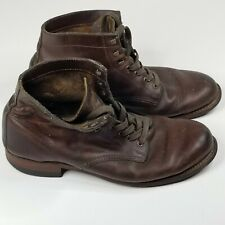 Wolverine 1000 Mile Brown Leather Boots Men's 9 D Rockford