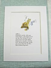 """Laperm Cat Mounted Print 9x7"""" Art Picture Cartoon Humour Cats"""
