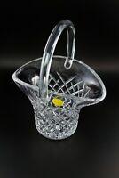 VTG Galway Irish 24% Lead Crystal Basket Diamond Pattern Czech Glass