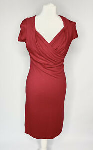 Anglomania By Vivienne Westwood Ladies Red Dress Size M Size 12 Jersey Stretch
