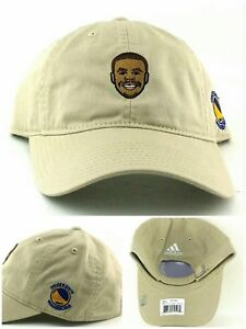 Golden State Warriors New Adidas Stephen Curry Dad Putty Tan Slouch Era Hat Cap