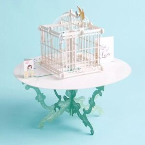 Gorgeous Love Bird in Cage 3D Pop Up Card Mothers Day Anniversary