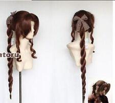 Final Fantasy VII Aerith brown Gainsborough cosplay wig