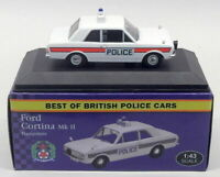 Atlas Editions 1/43 Scale 4 650 108 - Ford Cortina Mk2 - Hampshire Police Car