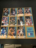 Original Charlotte Hornets Sheet of Un cut trading Cards Belk's promo