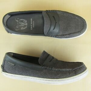 Cole Haan Grand OS Pinch US 9.5 M Men Marine Classic Penny Loafer Canvas Leather