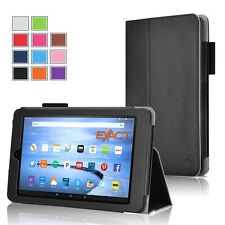 Exact Amazon Kindle Fire 7/ HD 8/ HD 10 (2015) Case [PRO] PU Leather Stand Case
