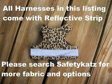 SafetyKatz Walking Jacket Cat Harness Reflective Strip Reversable Safety Cat