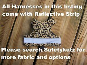 SafetyKatz Walking Jacket Cat Harness2 Reflective Strip Reversible Safety Cat