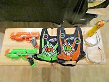 Nerf Dart Tag Capture The Flag 2 vests, 2 guns, Flash Marker, 2 pair of glasses
