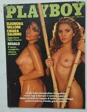 PLAYBOY ITALIA 5 MAGGIO 1982 ELEONORA VALLONE CHIARA SALERNO