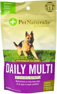 Daily Multi for Dogs by Pet Naturals of Vermont, 30 chews 1 pack