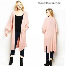 Pink Oversized Royal Princess Lantern Sleeve Duster Sweater Cardigan S M L XL