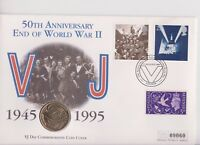 QEII  PNC COIN COVER 1995 50th ANNIVERSARY VJ DAY WWII £2 MERCURY B/UNC