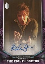 2018 Topps Doctor Who Signature Paul McGann as 8th Doctor Autograph Auto