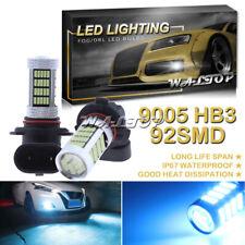 2x 92SMD 9145 9005 Ice Blue LED Fog Light for Dodge RAM 1500 2500 3500 2010-2012