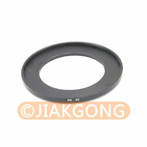 58mm-82mm 58-82 mm 58 to 82 Step Up Ring Filter Adapter