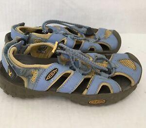 KEEN Newport 2 Fisherman Water Sandals Kids Unisex Size 1 Light Blue and Yellow