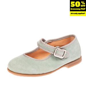 UNISA Suede Leather Mary Jane Shoes EU 25 UK 7.5 US 8.5 Popper Snap Round Toe
