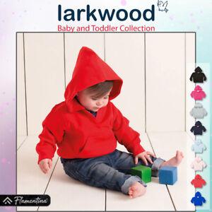 Baby Hooded Sweatshirt Larkwood Hoodie Kangaroo Pocket Toddler Boys Girls