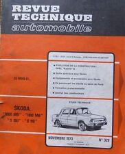 Revue technique SKODA 1000 MB 1100 MB S100 S110 RTA 329 1973 BON ETAT
