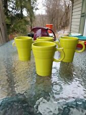 set 4 LATTE MUG CUP lemongrass FIESTA WARE new