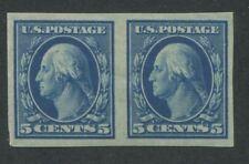 1909 US Stamp #347 5c Mint Hinged Very Fine Original Gum Pair