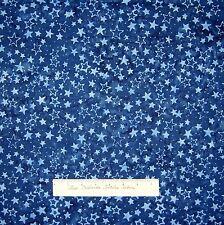 Batik Christmas Fabric Tonga Jack Frost Stars Dark Blue Timeless Treasures YARD