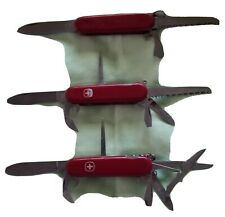 Vintage Wenger Swiss Army Knife - Red Lot of 3