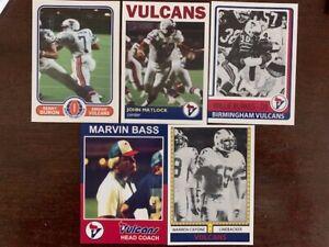 WFL Football Cards Birmingham Vulcans lot 26 Cards USFL XFL AFL AAF Stallions