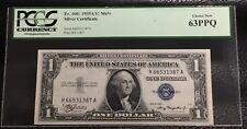 1935A $1 MULE SILVER CERTIFICATE - FR#1608 - PCGS CH NEW 63 PPQ INV# N-110