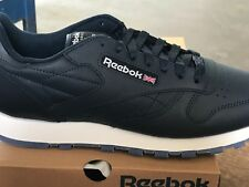 MENS REEBOK CLASSIC LEATHER ICE V48521 Navy White Ice Sizes 9 thru 14 0638eeb7e