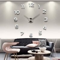 2018  Free Shipping New Clock Watch Wall Clocks Horloge 3d Diy Acrylic Mirror