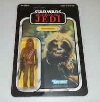 *RECARDED* 1983 Star Wars ROTJ Chewbacca Figure Complete Sealed CUSTOM Card Back