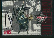2004 X-Concepts PBR Bull Riding Justin McBride Card Signed Auto Autograph