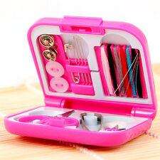 Portable Mini Cute Travel Sewing Kits Box Needle Threads DIY Home Tools set Pro.