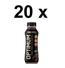20 x Optimum Nutrition High Protein Chocolate Shake 330ml FULL CASE BBE 07/09/20