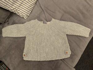Zara Baby /toddler Girl/Boy/unisex Grey Knitted Jumper 6-9 Months