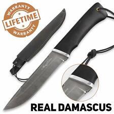 Camping Knife Sharp Fixed Blade Damascus Steel Hornbeam VEPR - Nazarov Knives